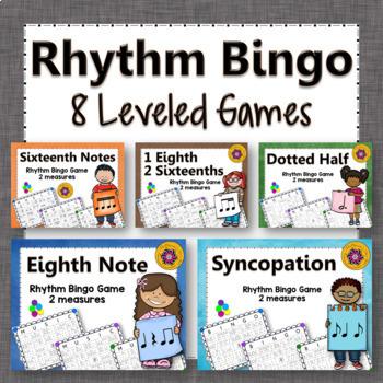 Rhythm Bingo Games ~ Music Game Bundle {2 measures}