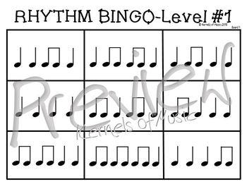 Rhythm Bingo-Level 1