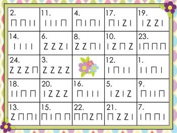 Rhythm Bingo - Ta, Ti-ti, Rest - Spring Themed