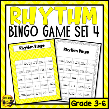 Syncopated Rhythms Bingo Game- Listening and Performing
