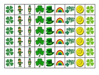 Rhythm Bingo - St. Patrick's Day - Sixteenth Notes (tiri-tiri)