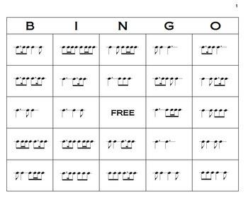 Rhythm Bingo - The 6/8 Edition