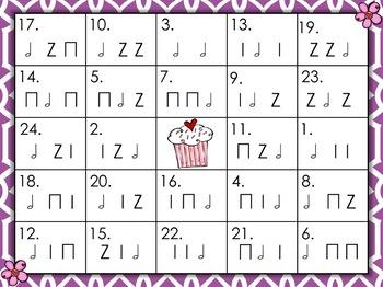 Rhythm Bingo - Valentine's Day - Half Note