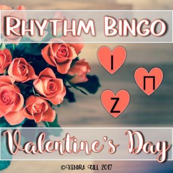 Rhythm Bingo - Valentine's Day - Ta, Ti-ti, Rest