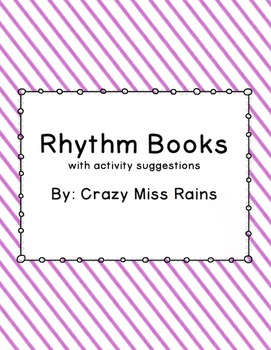 Rhythm Books with Suggested Activities