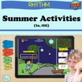 Rhythm Boom Cards Ta and titi, Summer Theme