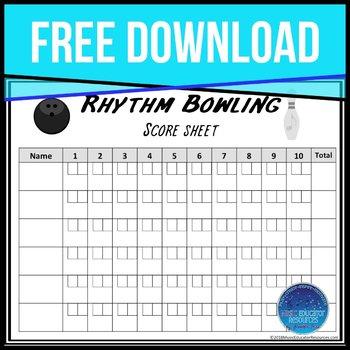 graphic relating to Printable Bowling Score Sheet titled Bowling Ranking Sheet Worksheets Coaching Elements TpT