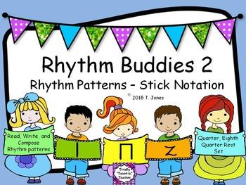 Rhythm Buddies 2 {Quarter Rest Set - ta, ti-ti, rest}