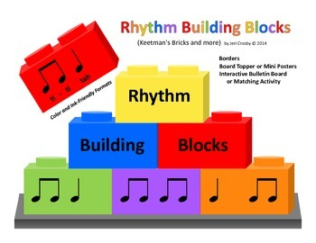Rhythm Building Blocks - Border, Board Topper, Posters, Interactive Bulletin Bd