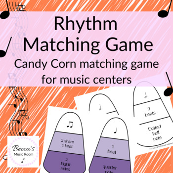 Rhythm Candy Corn Matching Game for Fall Music Centers