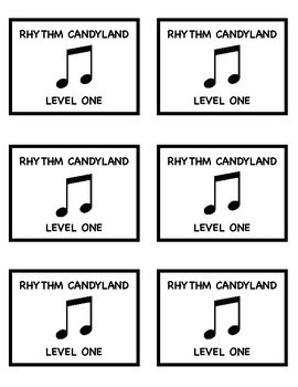 Rhythm Candyland: Level One Playing Cards