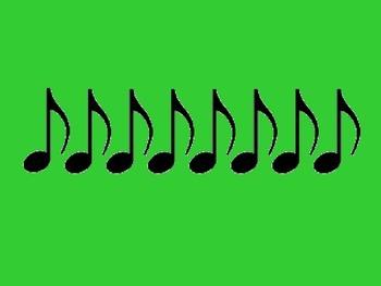 Music Rhythm Cards Level 4 - Green