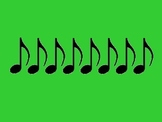 Music Rhythm Cards Level 4 - Green