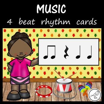 Music - 4 beat rhythm cards