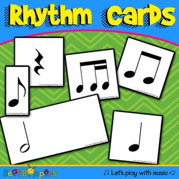 Rhythm Cards - Note Cards