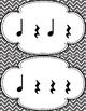 Rhythm Cards {Quarter Note, Quarter Rest}