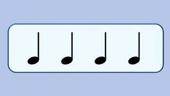 Rhythm Cards Set 1: Quarter Notes and Eighth Notes