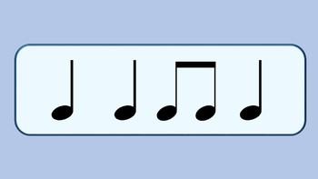 Rhythm Cards Set 2: Quarter Notes, Eighth Notes, and Quarter Rests