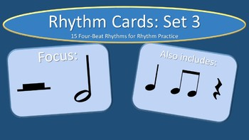 Rhythm Cards Set 3: Half Notes and Half Rests