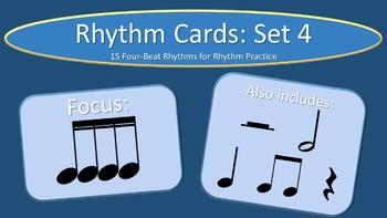 Rhythm Cards Set 4: Sixteenth Notes