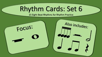 Rhythm Cards Set 6: Whole Notes and Whole Rests