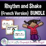 Rhythm Cards with Brain Breaks (FRENCH):  BUNDLE