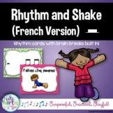 Rhythm Cards with Brain Breaks (FRENCH):  Half Rest