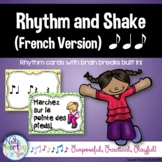 Rhythm Cards with Brain Breaks (FRENCH):  Syncopa (Ti Ta Ti)
