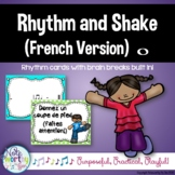 Rhythm Cards with Brain Breaks (FRENCH): Whole Note