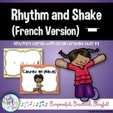 Rhythm Cards with Brain Breaks (FRENCH): Whole Rest