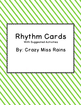 Rhythm Cards with Suggested Activities