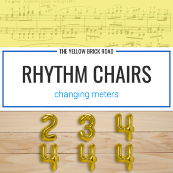 Rhythm Chairs Game: changing meters