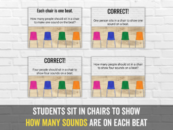 Rhythm Chairs Level Four: barred sixteenth notes
