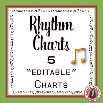 Rhythm Chart Set: North American Terminology