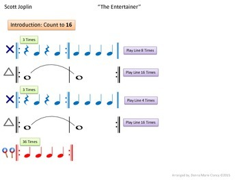 """Rhythm: Classroom Instruments Play Along with """"The Entertainer"""""""