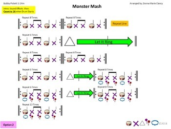 """Rhythm: Classroom Instruments: Play Along with """"The Monster Mash"""""""