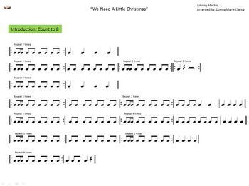 rhythm classroom instruments play along with we need a little christmas