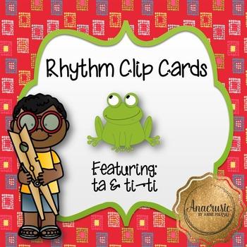 Rhythm Clip Cards - Quarter Rest