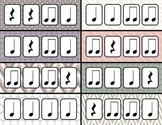Rhythm Clothespin Clip - quarter note, quarter rest, and paired eighth notes