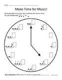 Rhythm Clock Worksheet - Tied Notes
