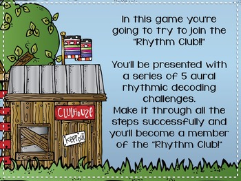 Rhythm Clubhouse {A Bundled Set of Games for Aural Decoding}