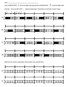 Rhythm Code Pre-Rhythm Reading Worksheets