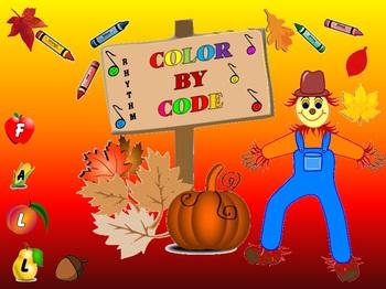 Rhythm: Color By Code: Fall: Grades 1-3