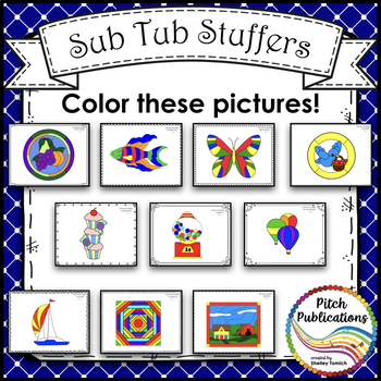 Rhythm Coloring 2A - Color by Note - Half Note, Quarter Note/Rest, Eighth Notes