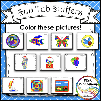 Rhythm Coloring 2B- Color by Note Name - Half Note, Quarter Note/Rest, Eighth