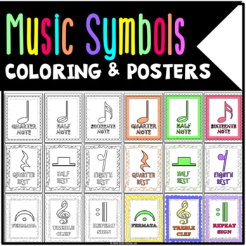 Music Coloring Sheets and Posters (62 Pages!)
