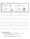Rhythm Composition worksheet with Self-Assessment