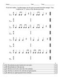 Rhythm Copying Worksheet (in 4/4)