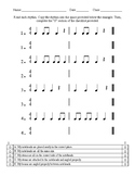 Rhythm Copying Worksheet (in 4/4)