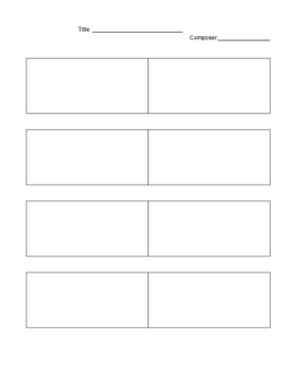 Rhythm Counting/Composition Worksheet
